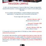 Hikvision Campus 4 Dicembre - Lamezia (T-Hotel), 5 Dicembre - Cosenza (Italiana Hotels), 6 Dicembre - Crotone (Western Hotel)