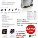 Promo Kit Motoriduttore per cancello scorrevole 500 Kg