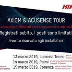 Axiom & Acusense Tour - Lamezia (T-Hotel), 13 Marzo - Palmi (Stella Maris), 14 Marzo - Cosenza (Italiana Hotel), 15 Marzo